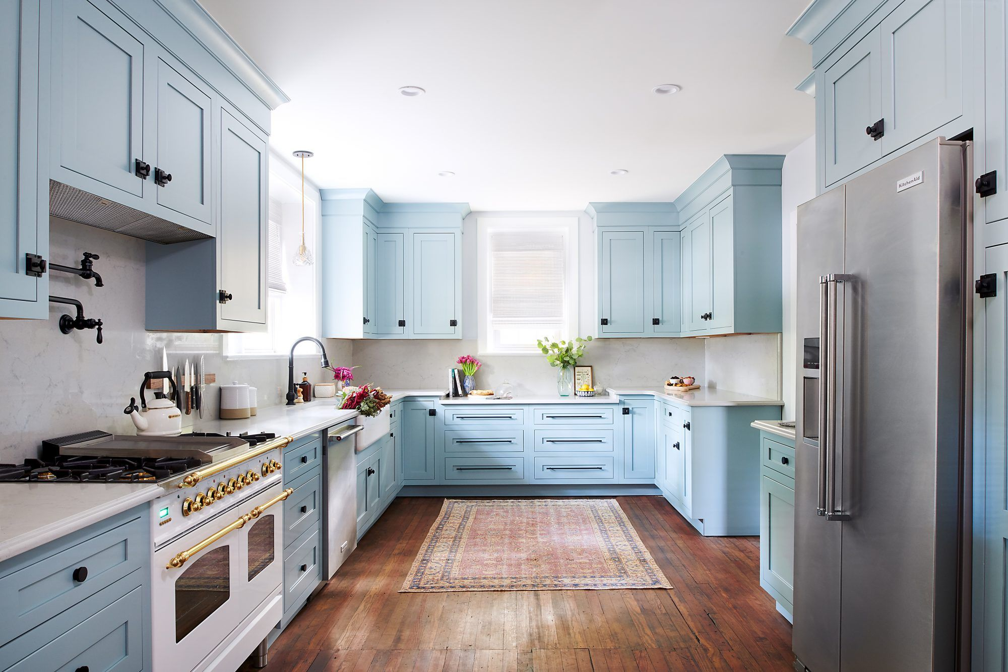 How To Pull Off A Powder Blue Kitchen Home Decor Kitchen