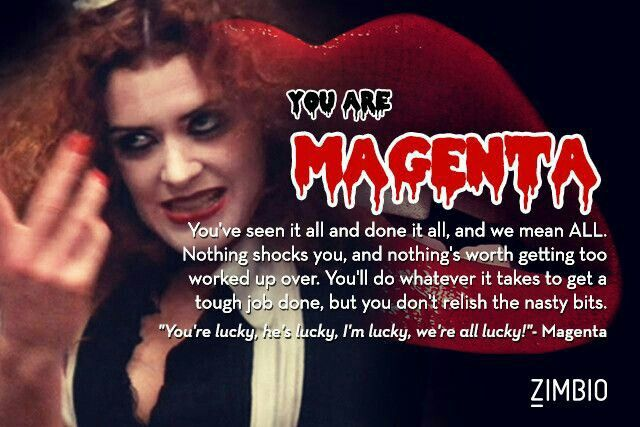 TheRockyHorrorPictureShow (1975) - #Magenta | The Rocky ...