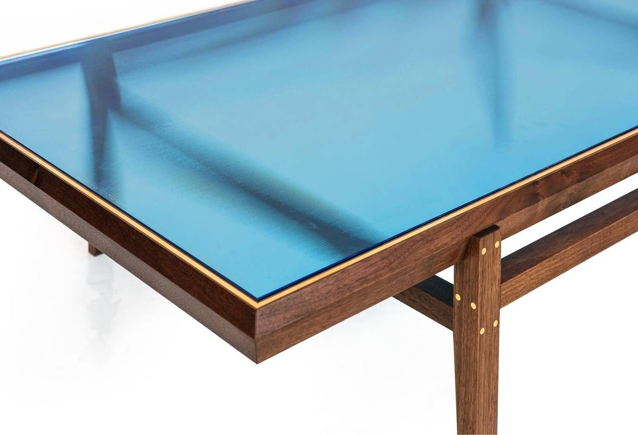 Pin By Katie Snow On Art Glass Top Table Blue Glass Coffee Table [ 873 x 1280 Pixel ]