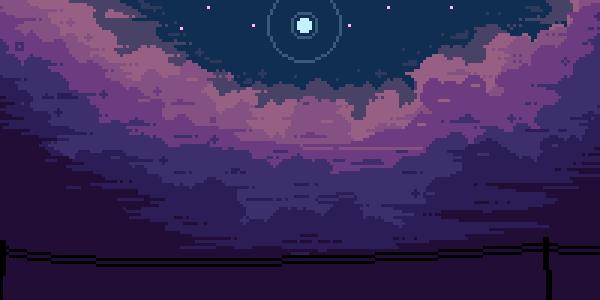 Pixel Night Sky Tumblr Pixel Art Background Night Sky Tumblr Landscape Wallpaper