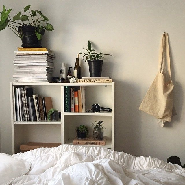 White Tumblr Room With Plants