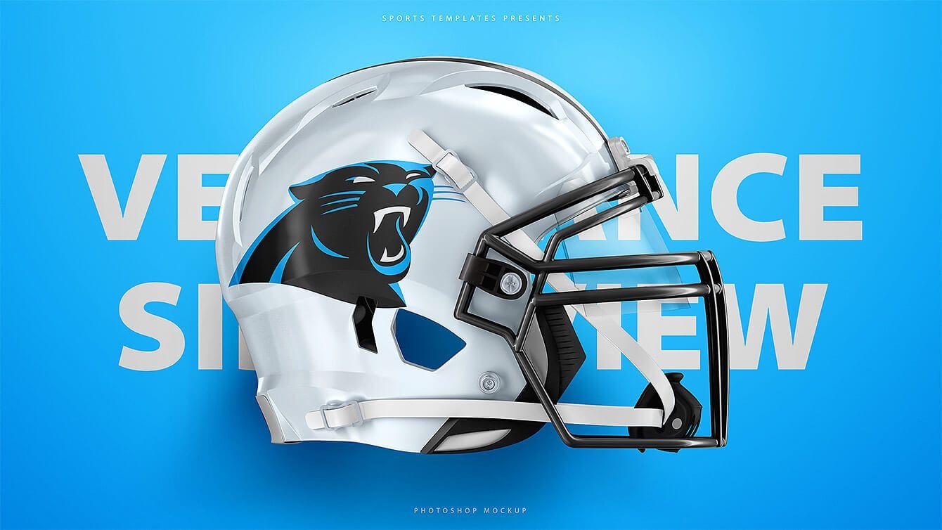 Carolina Panthers Schutt Vengeance Z10 Football Helmet Free Psd Template Mockup Freebie Football Helmets Helmet Sports Templates