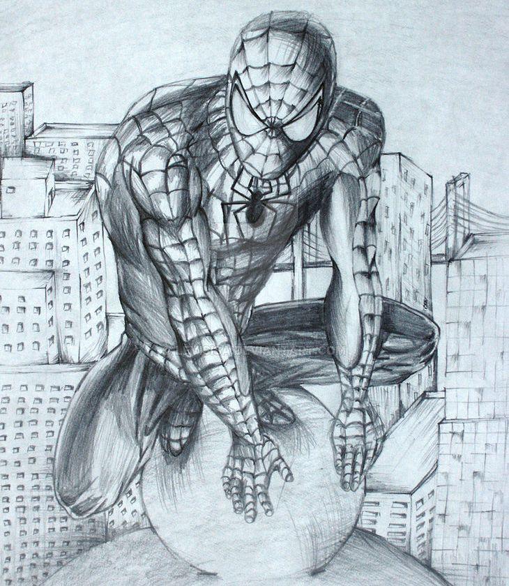 Spider Man Drawing çizim Karakalem Isayalavac