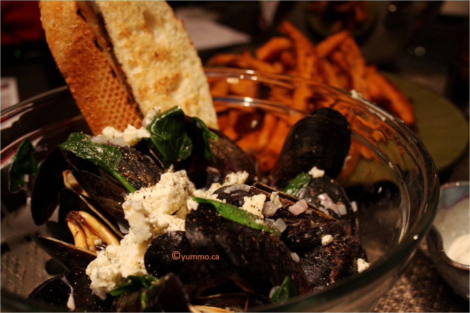 Mussels with Blue Cheese - to die for!