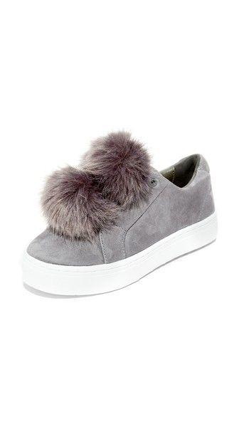 66e5d5f1cc80 SAM EDELMAN Leya Faux Fur Pom Pom Sneakers.  samedelman  shoes  sneakers