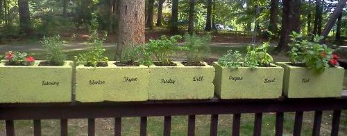 So easy....Chicken wire on the bottom add soil and herbs.
