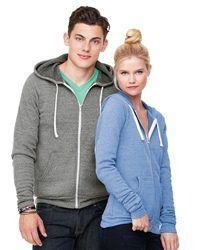 Bella + Canvas   Unisex Triblend Full Zip Sweatshirt         Americana Sportswear