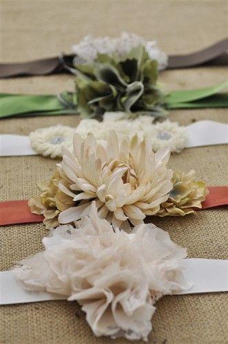 Beautiful handmade flower belts:)
