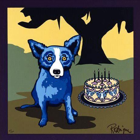 Singin The Blues Birthday Cake