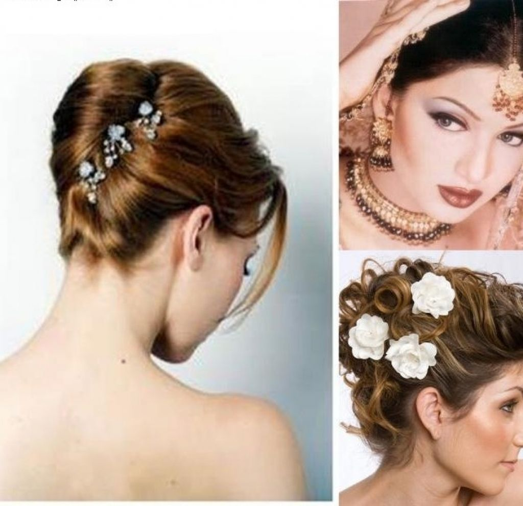 indian wedding party hairstyles for long hair short