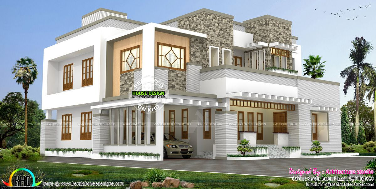 Beautiful modern contemporary Kerala home | STARANKOR | Kerala house