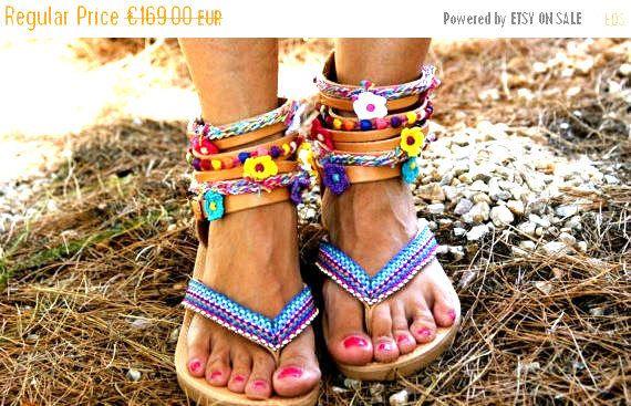 20% OFF gladiator sandals/ boho sandals/ leather sandals/