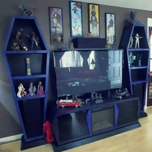 Coffin Bookcase Would Be Pefect To Display All My Horror Vhs Tapes