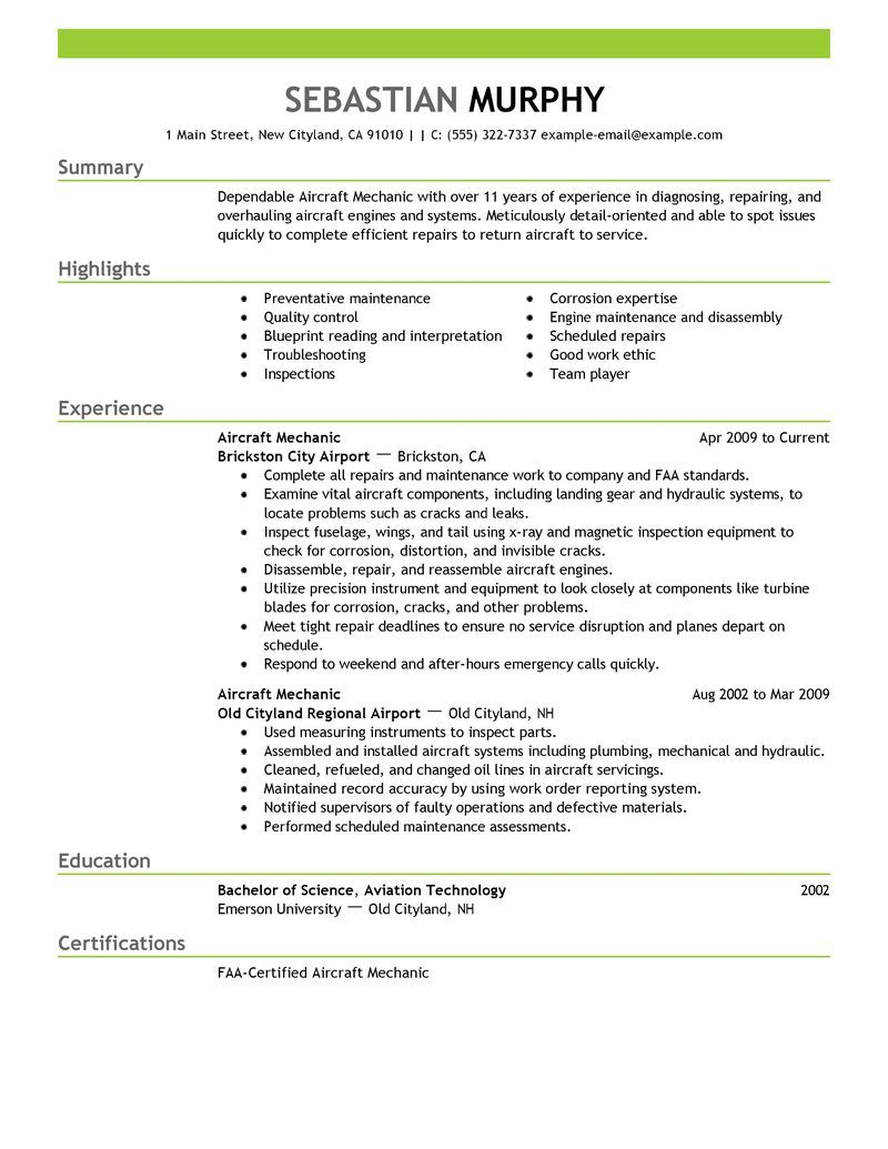 Maintenance Mechanic Resume Sample Car Release Date Auto Occupational Examples Samples Free Edit With Aircraft Mechanics Resume Examples Resume