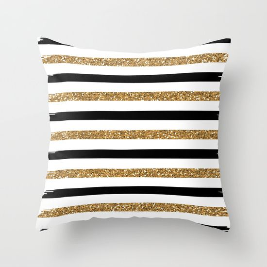 Black And Gold Throw Pillow By Monique Bellavia 20 00 Gold