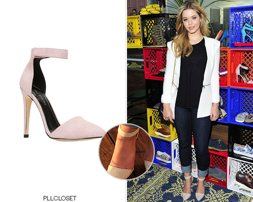 #pll #SashaPieterse wearing a #yadoven #CallItSpring ankle-strap point-toe pumps $19.99 NOW