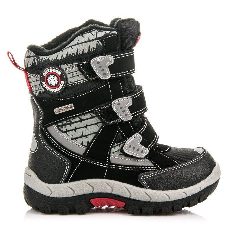 Kozaki Dla Dzieci Americanclub American Club Czarne Kozaki Dla Chlopca Boots Combat Boots Army Boot