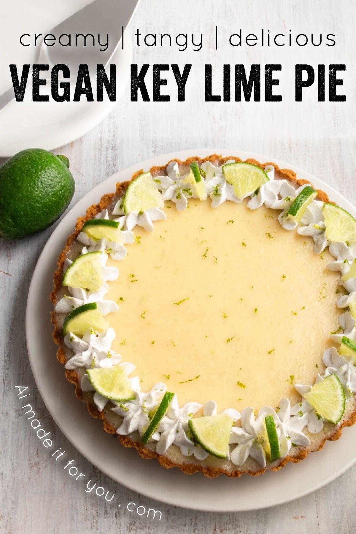 Vegan Key Lime Pie Easy No Bake Recipe Ai Made It For You In 2020 Vegan Key Lime Pie Vegan Key Lime Pie Recipe Vegan Key Lime