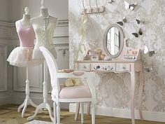 Dormitorio en rosa para niñas