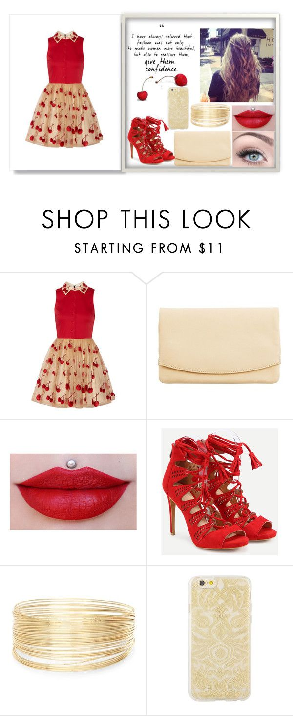 """Sem título #31"" by barbaraloves ❤ liked on Polyvore featuring Alice + Olivia, Skagen, New Look and Sonix"