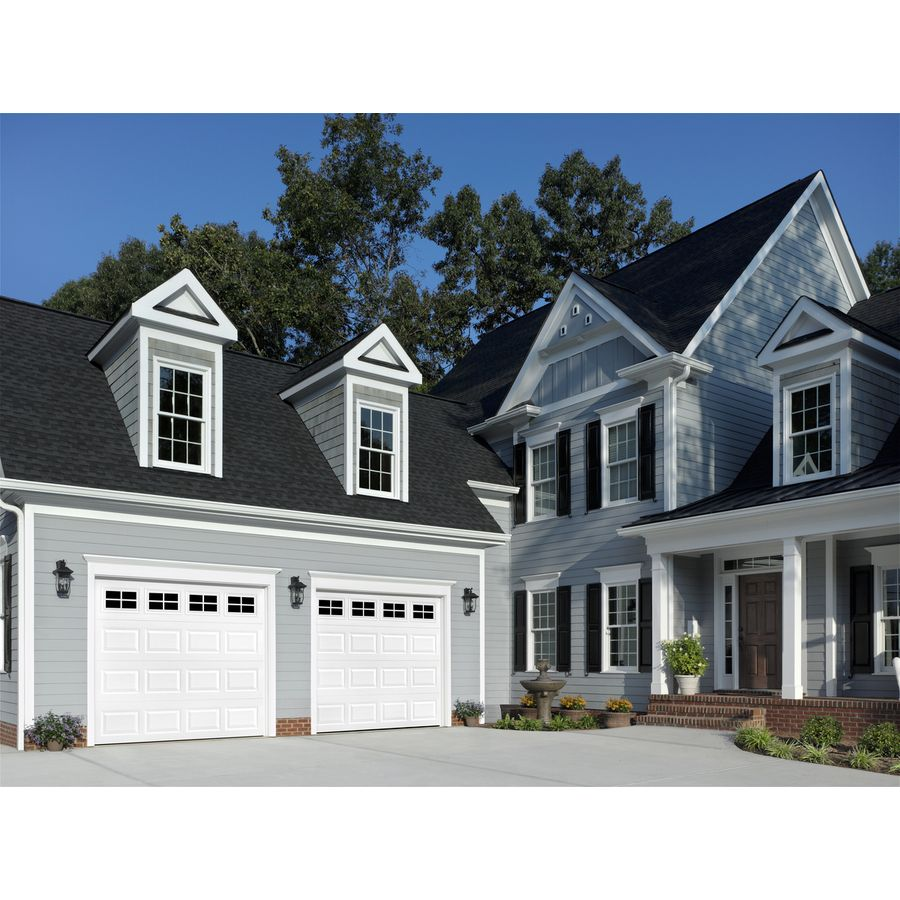 Shop reliabilt 9 ft x 7 ft traditional insulated white for 10 foot garage door prices