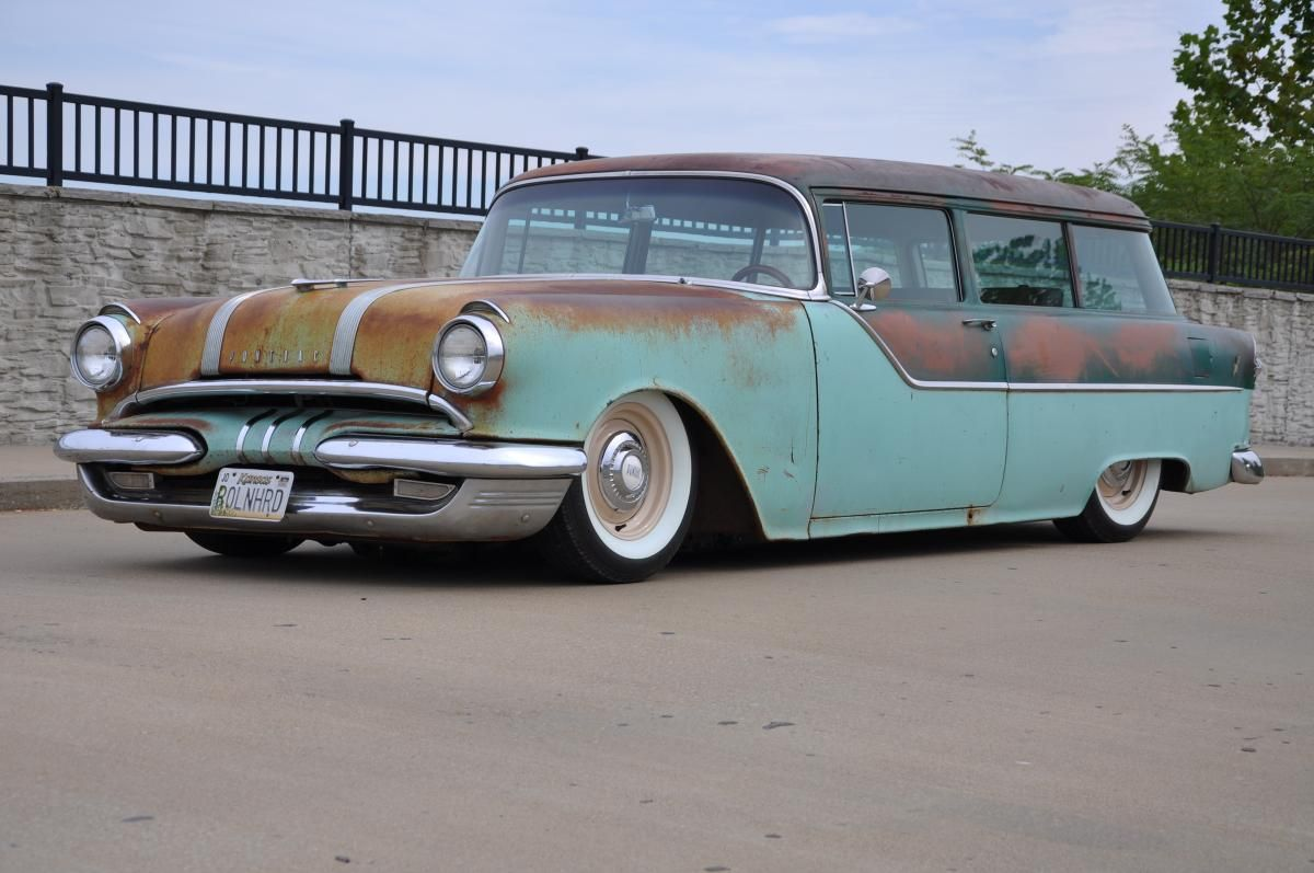 1955 pontiac chieftain 2 door wagon wonderful wagons. Black Bedroom Furniture Sets. Home Design Ideas
