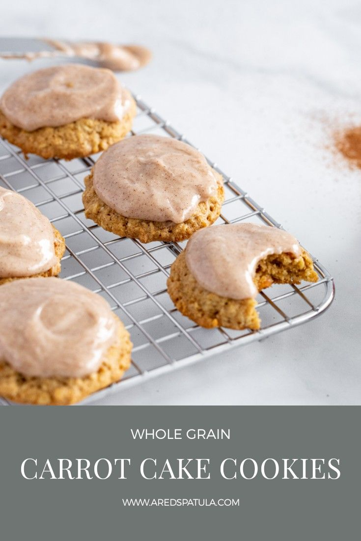 Carrot cake cookies a red spatula recipe in 2020