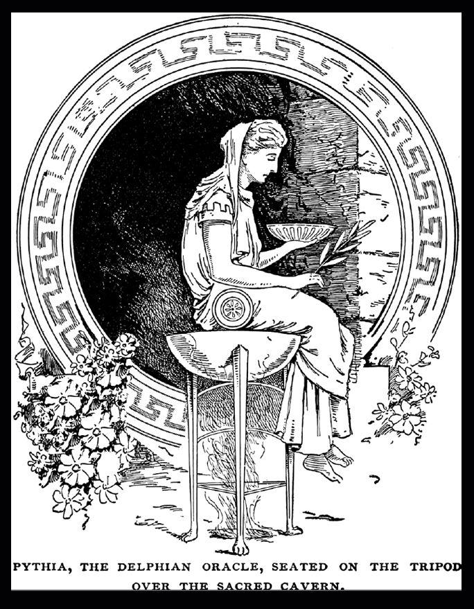 Delphic Oracle | Ancient greek art, Oracle art, Greek art