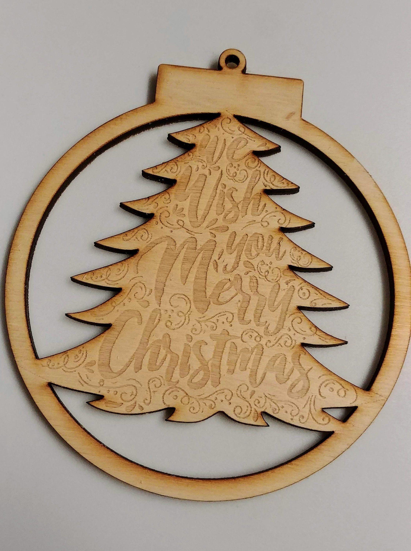 Natural Wood Christmas Ornaments | Christmas ornaments ...
