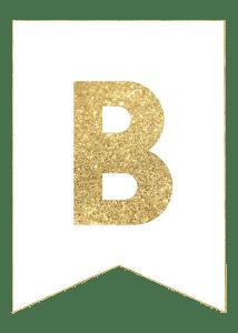 Gold Free Printable Banner Letters, 2020 | Harfler, Nişan ...