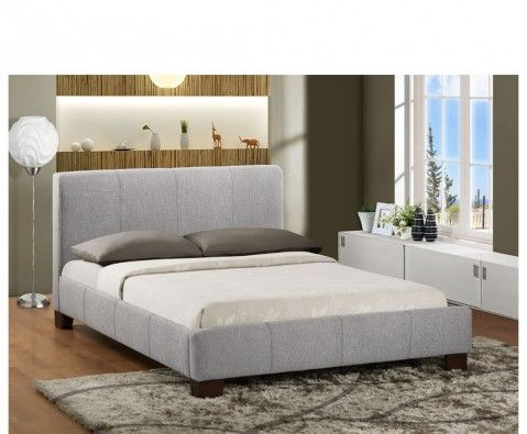 Jarrot Slate Waffle Upholstered Bed Fabric Bed Frame Fabric