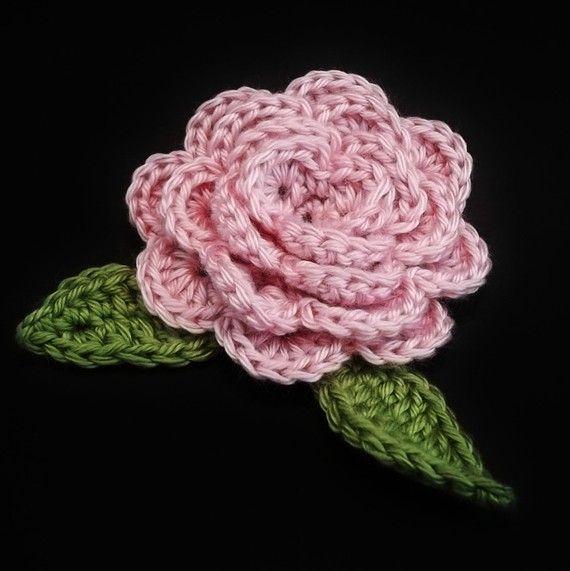 Instantánea descargar patrón de ganchillo de la flor de Rosa. El ...