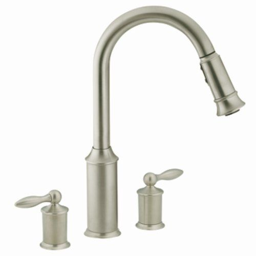 Two Handle Pull Down Kitchen Faucet