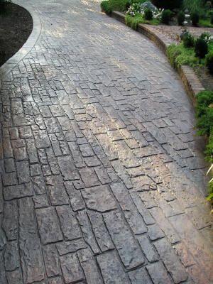 Random Cobblestone In 2020 Stamped Concrete Patio Stamped Concrete Driveway Wood Stamped Concrete