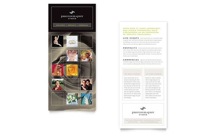 Photography Studio Rack Card Template Design By Stocklayouts  Hoh