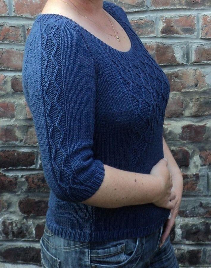 Pull Caroline - tricot - Tutoriels de tricot chez Makerist