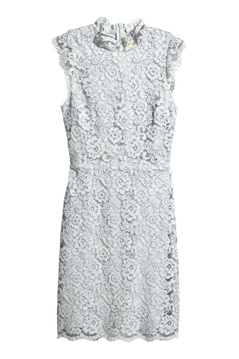 H&m lace dress white  Kanten jurk