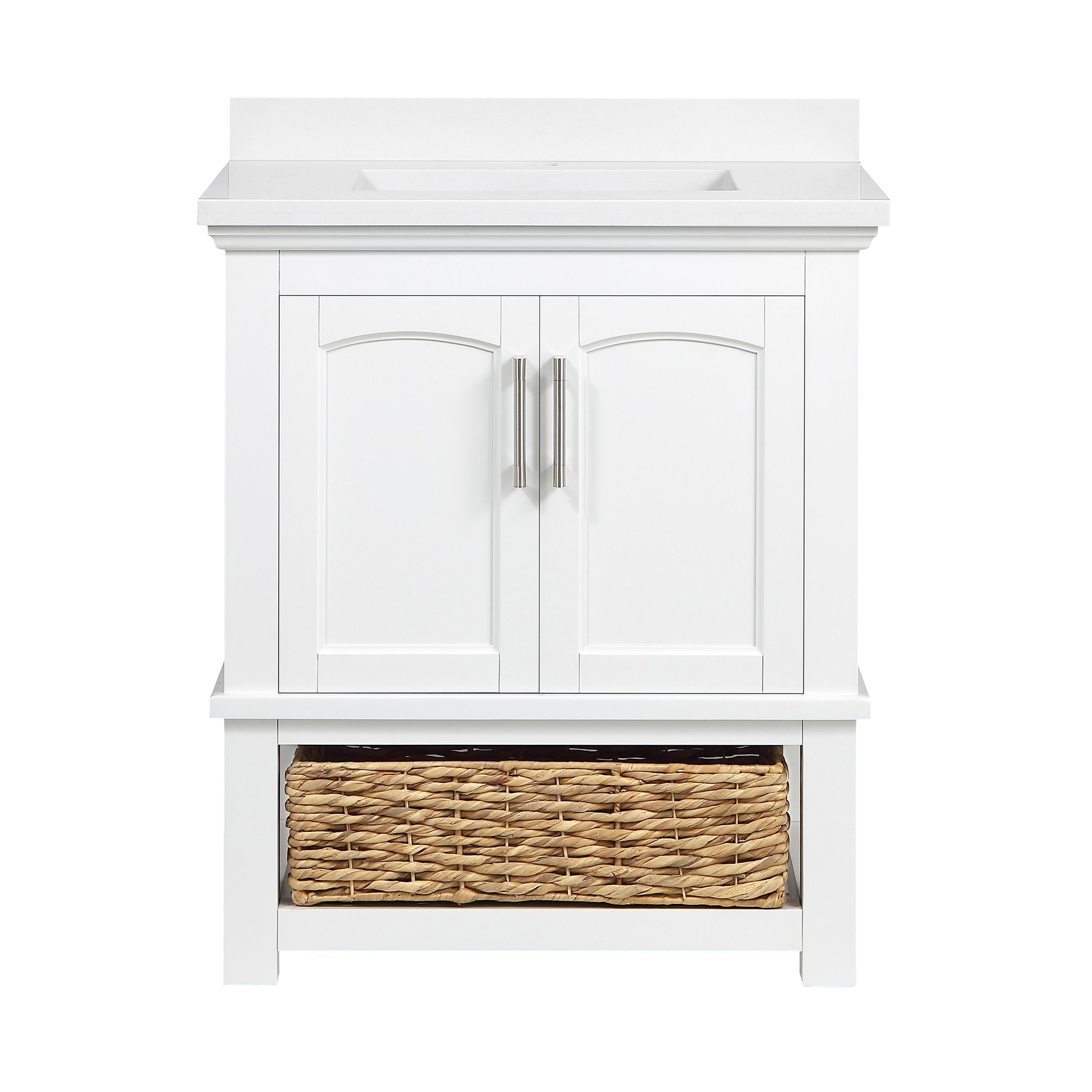 Sonia 30 Vanity With Wicker Basket By Ove Decors Wicker Baskets