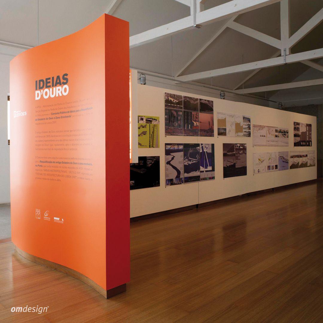 Exposição Ideias D'Ouro – Porto de Leixões (2007)  Ideias D'Ouro exhibition – Porto de Leixões  #Omdesign #Design #Portugal #LeçadaPalmeira #Since1998 #AwardedAgency #DesignAwards #SpatialDesign #Exhibition #PortodeLeixoes #APDL #Matosinhos #Leça