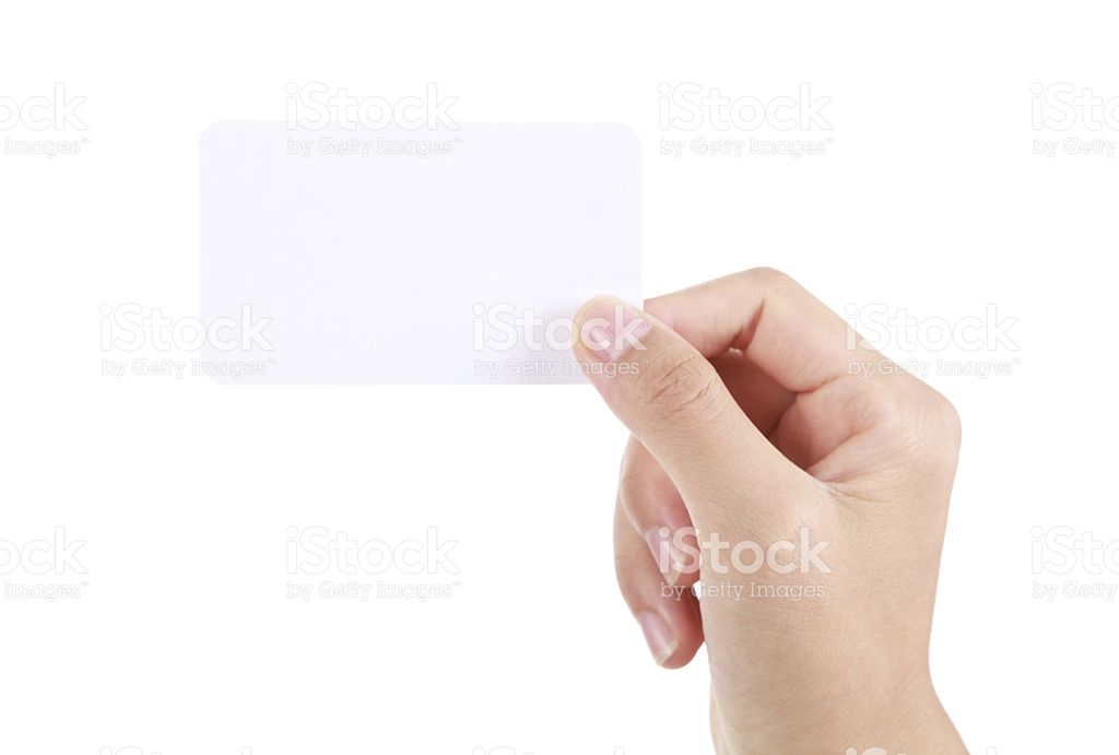 Hand holding business card on white background, More multi-view and ...