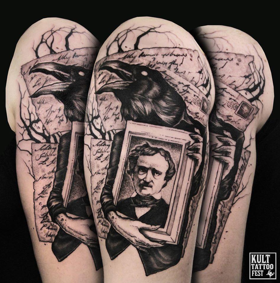 Edgar allan poe tattoo