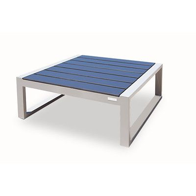Harbour Outdoor Piano Ottoman with Cushion Seat Color: Charcoal ...