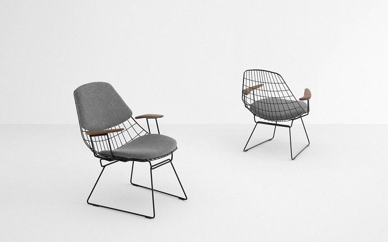 Pastoe Draadstoel Tweedehands.Pastoe Pastoe Chairs Wire Collection Wire Lounge Chair Fm