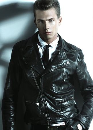 Leather Jacket Shirt Tie Wonderful Get The Style