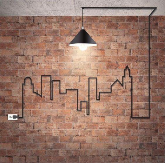 Transformer Vos Cables Electriques En Petites Oeuvres D Art 20 Idees Design De Mur Deco Maison Fond D Ecran En Briques