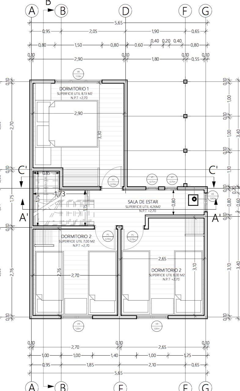 Descargar Plano De Casa Social 70m2 Y 2 Pisos