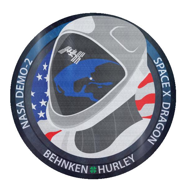 Camiseta Clasica Nasa Demo 2 Behnkeen Hurley Spacex Dragon De Rapaz Blue Galaxy Nasa Hurley Dragones