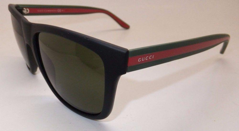 dfec05acd41d Gucci GG 1118/S M1A1E Men Sunglasses Matte Black Green Red Italy || Free
