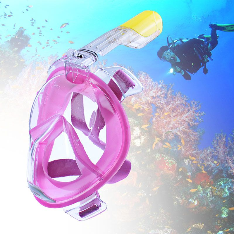 1pc Full Face Snorkeling Mask 180 Degree Wide View Scuba Underwater Diving Mask Swimming Snorkel Anti Fog Snorkeling