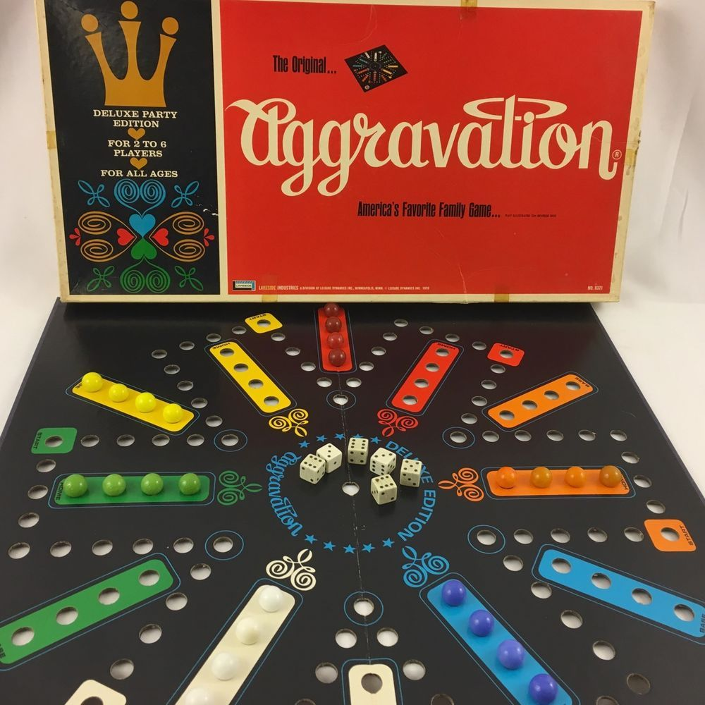 Vintage The Original Aggravation Board Game by Lakeside 1970 #8321 Complete #Lakeside